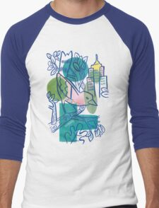 City Tweets Men's Baseball ¾ T-Shirt