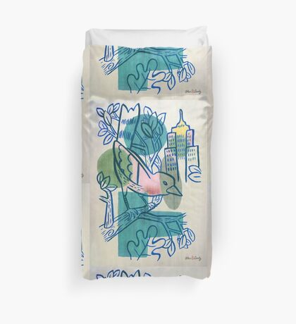 City Tweets Duvet Cover