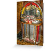 Antique Jukebox Greeting Card