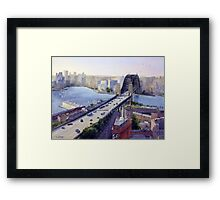 Sydney Harbour to the West Framed Print