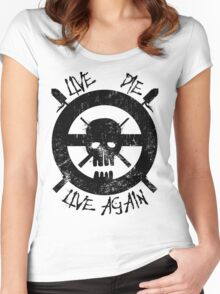 I live again (black) Women's Fitted Scoop T-Shirt