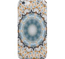 Baroque Blue yellow Rosette-R001 iPhone Case/Skin