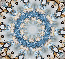 Baroque Blue yellow Rosette-R002 by Heidivaught