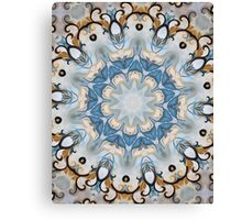 Baroque Blue yellow Rosette-R002 Canvas Print