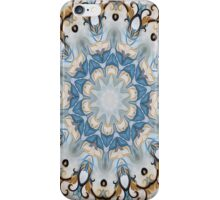 Baroque Blue yellow Rosette-R002 iPhone Case/Skin