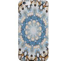 Baroque Blue yellow Rosette-R002 iPhone Case/Skin