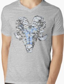 Blue Ram Vintage Mens V-Neck T-Shirt