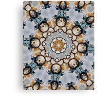 Baroque Blue yellow Rosette-R009 Canvas Print