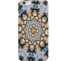 Baroque Blue yellow Rosette-R009 iPhone Case/Skin