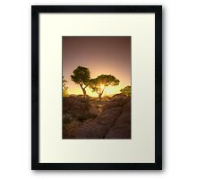 Shading Sunset Framed Print