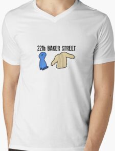 221B Baker Street Mens V-Neck T-Shirt