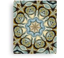 Blue Baroque Leaf Scroll-r0013 Canvas Print