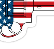 USA Gun Sticker