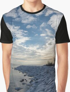 Cirrocumulus Clouds and Sunshine - Lake Ontario, Toronto, Canada Graphic T-Shirt