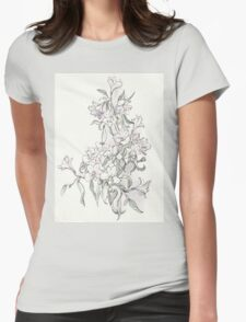 orchid white Womens Fitted T-Shirt