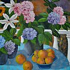 Hydrangeas and oranges by Bellarina74
