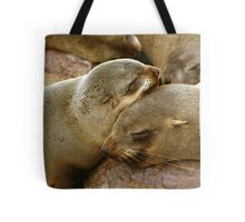 'Cuddling Cousins' - Cape Fur Seals  Tote Bag