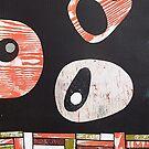 Black white orange lime retro atomic by bearoberts