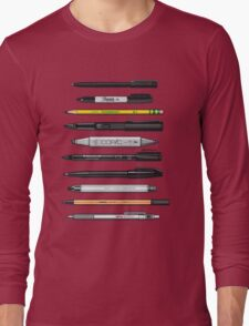 Pen Collection For Sketching And Drawing (Plain) Long Sleeve T-Shirt