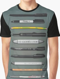 Pen Collection For Sketching And Drawing (Plain) Graphic T-Shirt