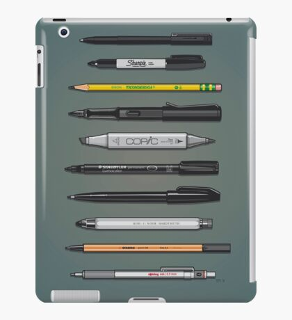 Pen Collection For Sketching And Drawing (Plain) iPad Case/Skin