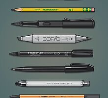 Pen Collection For Sketching And Drawing (Plain) by Tom Mayer