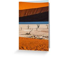 Light and Shadow at Deadvlei Greeting Card
