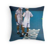 Blake and Roddick Throw Pillow