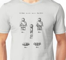 Lego Patent Toy Figure 02 Sheet 1 Of 2 In Black Version Unisex T-Shirt