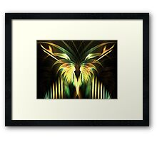 Yellow Plumes Framed Print