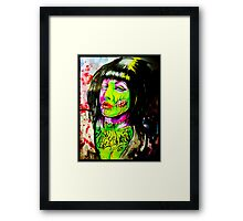 Punk Rock Zombie Chick COLOUR Framed Print