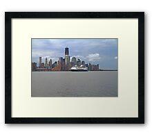 Cruise Ship Veendam on the Hudson Rv. Framed Print