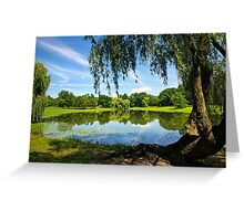 Summer in the Park Landscape Greeting Card
