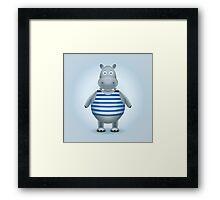 Hippo-sailor in the vest Framed Print