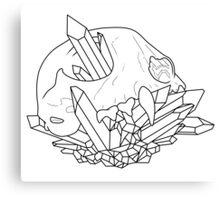 Animal Skull Outline Canvas Print