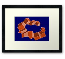 Blocked 2 Framed Print