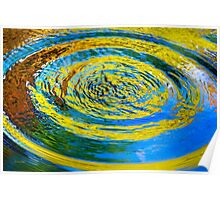 Colorful Water Abstract Poster
