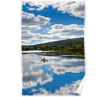 Fall Kayaking Landscape Poster