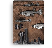 Fishy City Canvas Print
