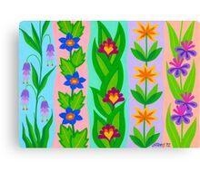 FLOWER SPLENDOUR - AQUAREL Canvas Print