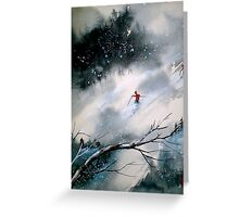 Past The Plunge.. Greeting Card