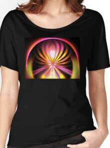 Sunshine Lotus Women's Relaxed Fit T-Shirt