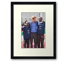 The Gold Medallist winners with Prince Harry Framed Print