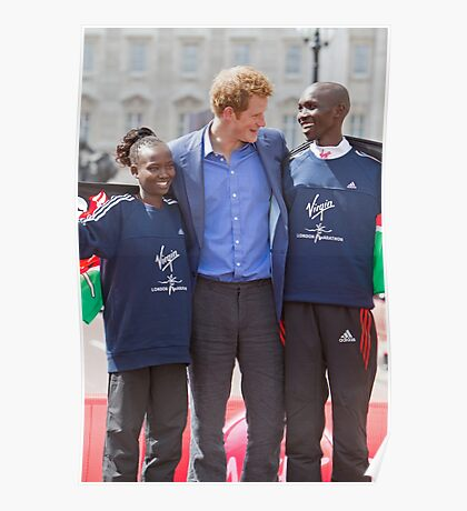 The Gold Medallist winners with Prince Harry Poster