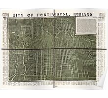Panoramic Maps Griswold's birdseye view of the city of Fort Wayne Indiana indexed for ready reference Poster
