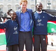 The Gold Medallist winners with Prince Harry by Keith Larby