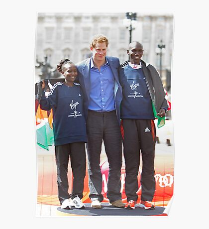 The Winners of the London Marathon 2012 Poster