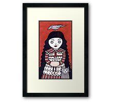 Raven Hair Framed Print