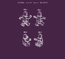 Lego Patent Toy Figure 02 Sheet 2 Of 2 In White Version Unisex T-Shirt
