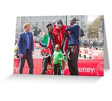 The Winners of the London Marathon 2012 Greeting Card